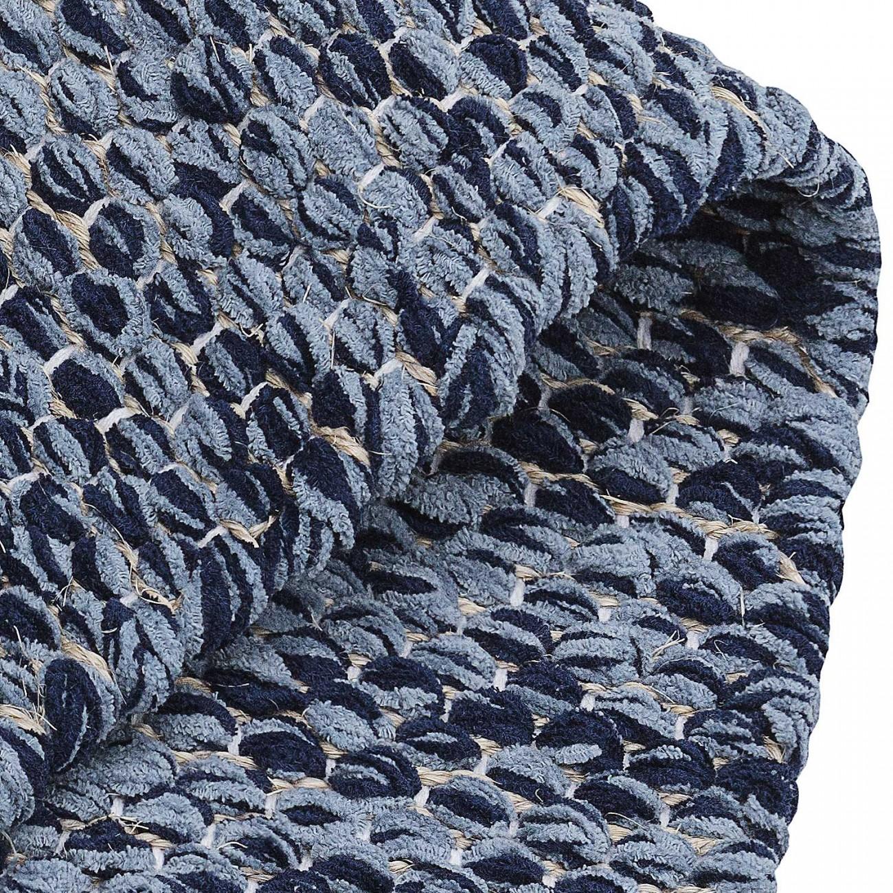 Tapete Tear Encorpado Azul Mesclado 150x250