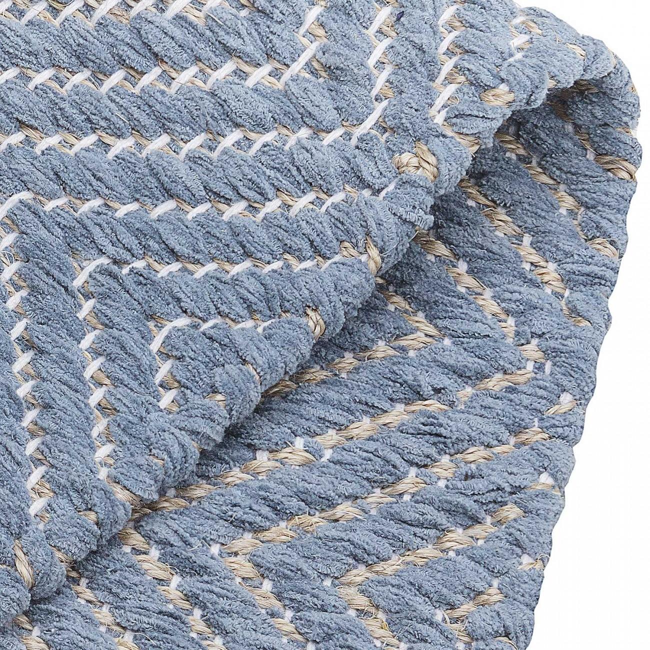 Tapete Tear Escama de Peixe Azul 075x200