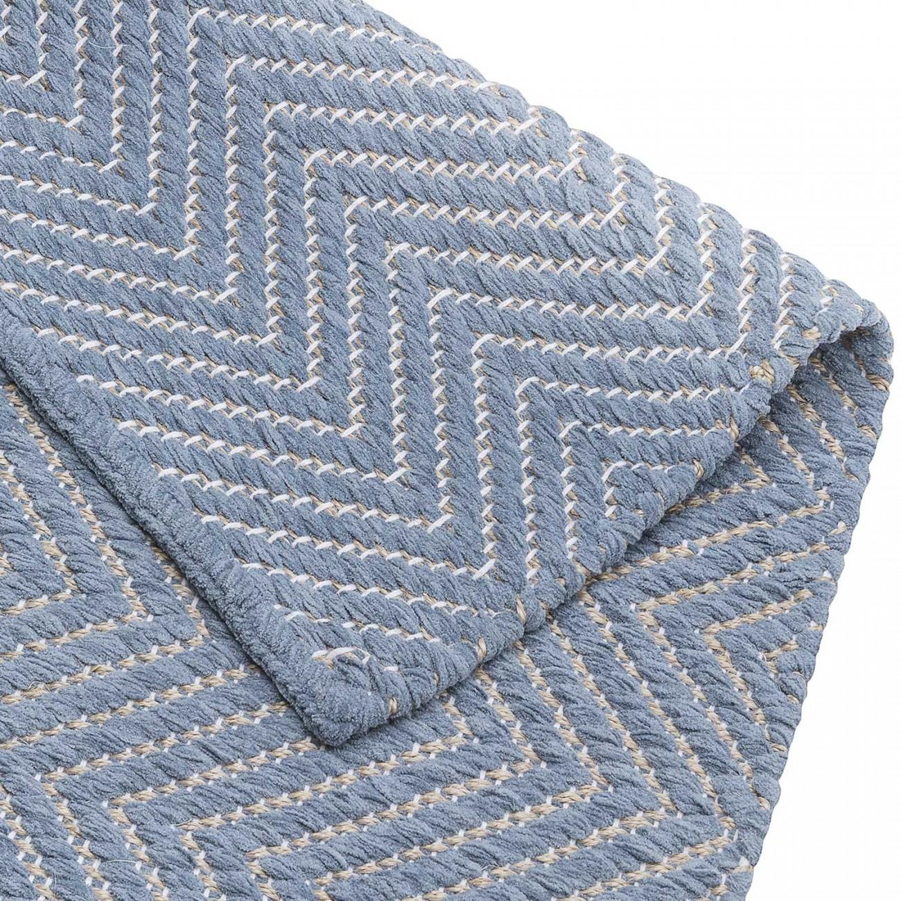 Tapete Tear Escama de Peixe Azul 100x150