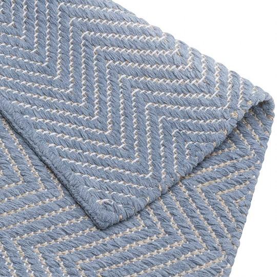 Tapete Tear Escama de Peixe Azul 075x400